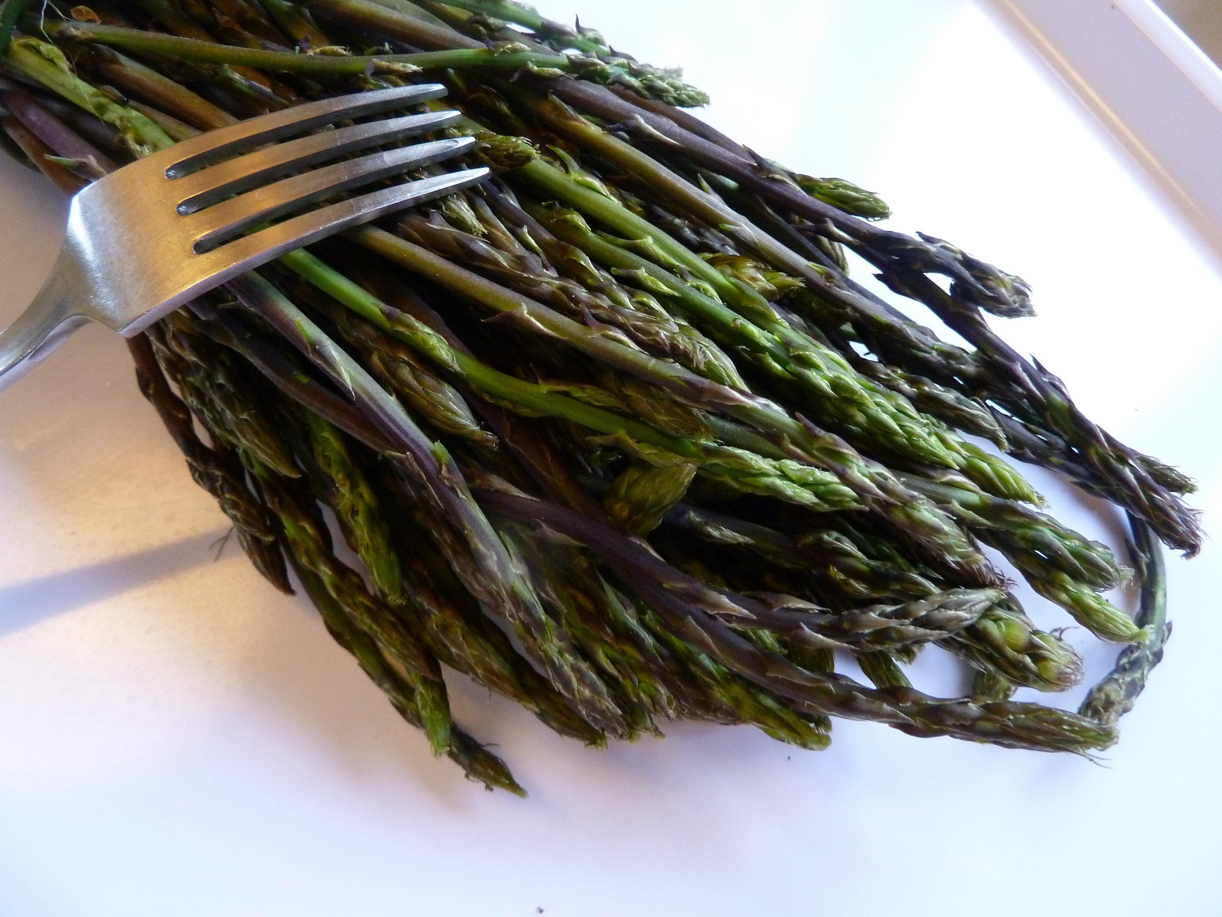 wild Tuscan asparagus