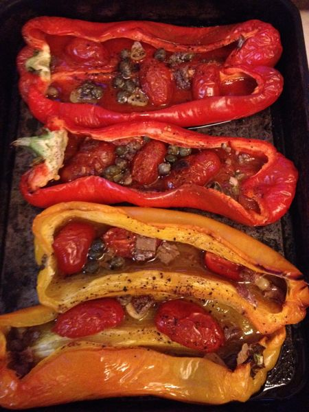 oven-roasted peppers/peperoni imbottiti