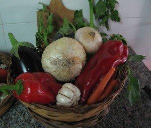 caponata ingredients at Case del Feudo