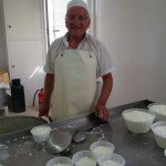 Massimiliano with his ricotta