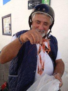Franco with gamberetti