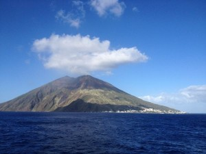 Stromboli from the ferry