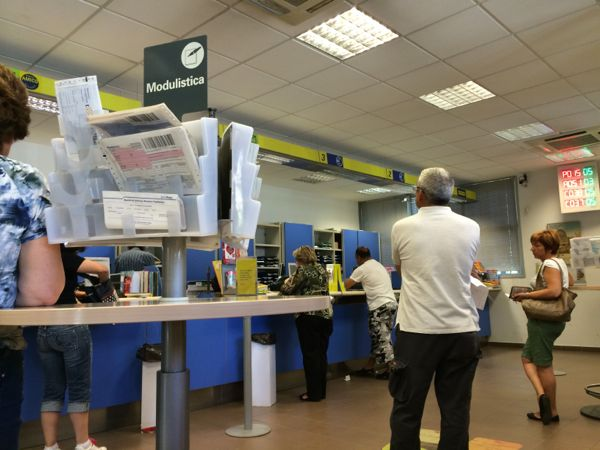 Camucia post office, 11:15 a.m.