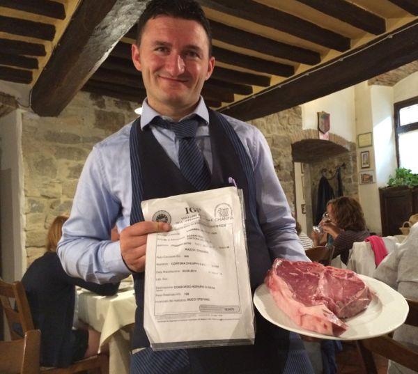 Bistecca chianina at La Loggetta, Cortona, Italy.