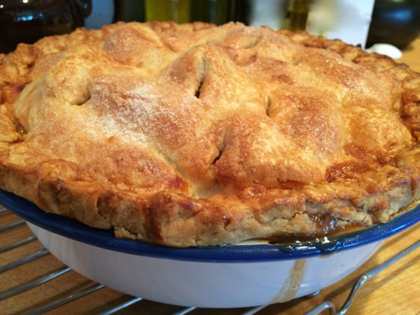 apple pie in a dish