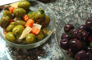 Sicilian table olives