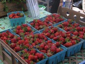 strawberries Camden market