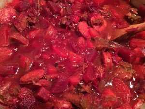 borscht coming together